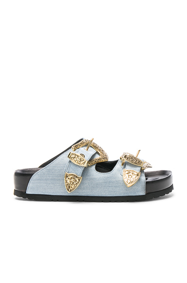 Fausto Puglisi Denim Sandals in Blue