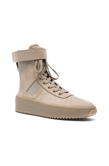 Fear of God Nubuck Leather Military Sneakers in Neutrals. - size 40 (also in 41,44,45)