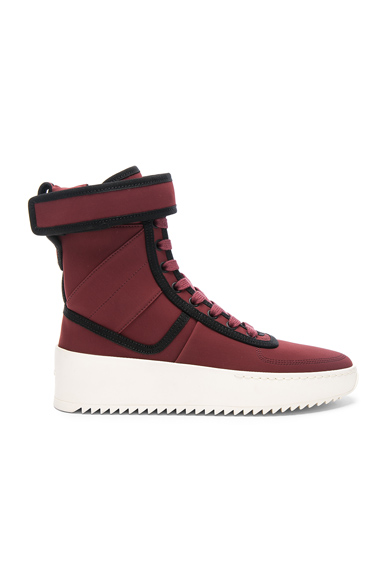 Fear of God Neoprene Military Sneakers in Red
