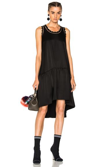 Fendi Sleeveless Mini Dress in Black
