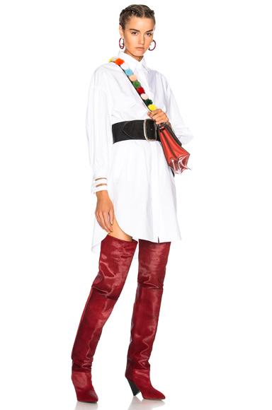 Fendi Fishtail Hem Shirt Dress in White