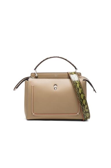 Fendi Elaphe Handle Bag in Neutrals.