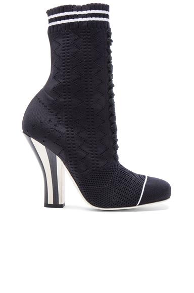 Fendi Knit Booties in Black