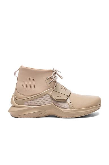 Fenty by Puma Leather Trainer Sneakers in Neutrals