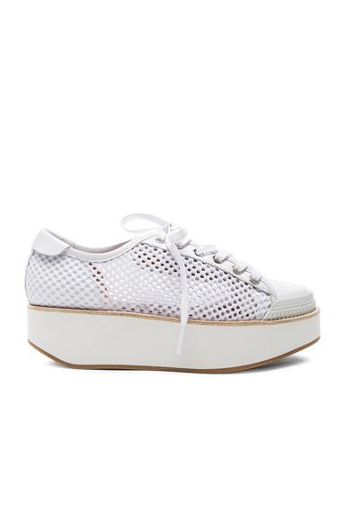 Flamingos Mesh Tatum Sneakers in White