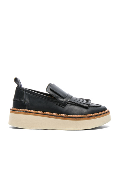 Flamingos Leather Trianon Loafers in Black