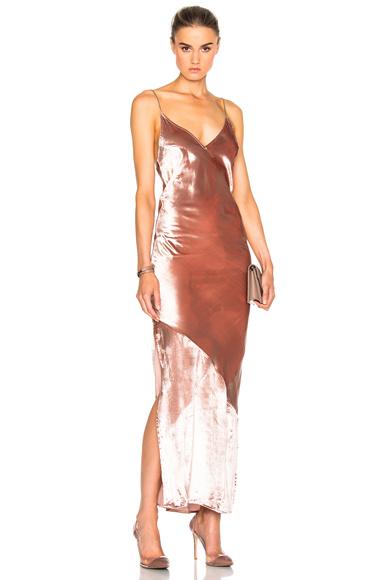 fleur du mal Velvet Slip Dress in Pink