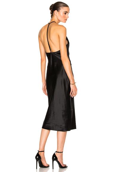 fleur du mal Cowl Neck Bias Slip Dress in Black
