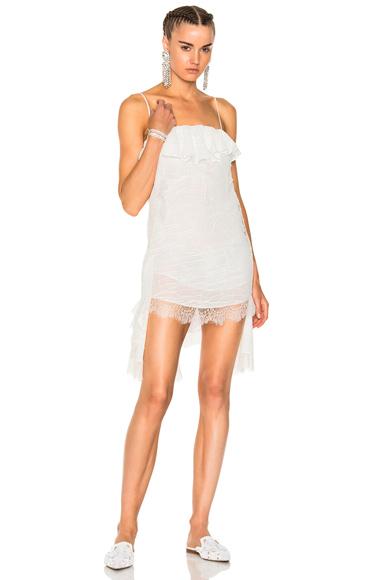 Francesco Scognamiglio Asymmetrical Lace Dress in White
