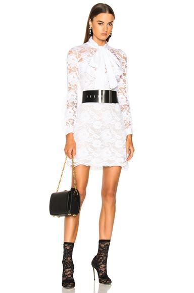 Francesco Scognamiglio Lace Mini Dress in White