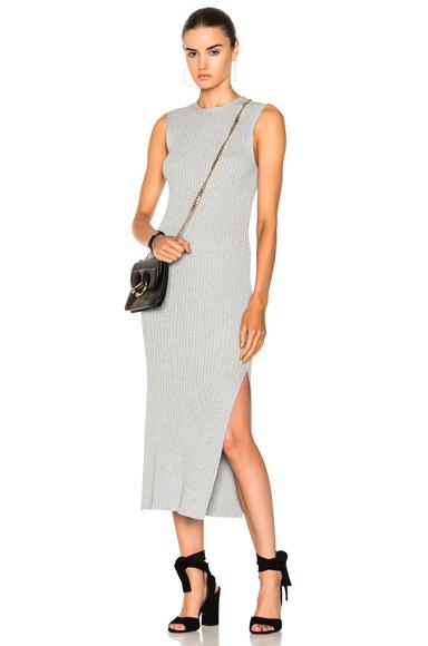 FRAME Denim Sleeveless Rib Dress in Gray