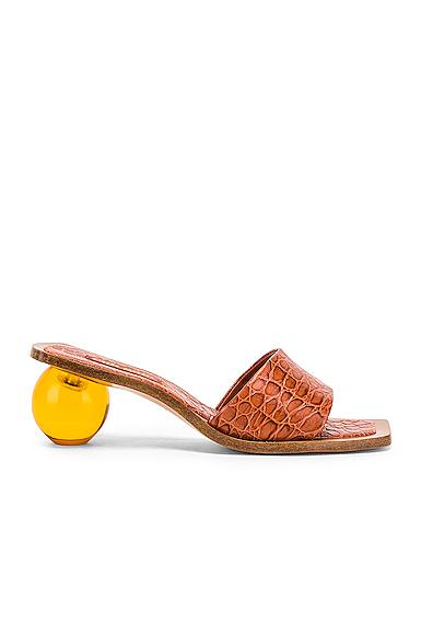 CULT GAIA | Cult Gaia Tao Sandal In Brown. - Size 39 (Also In 36,36.5,37,38.5) | Goxip