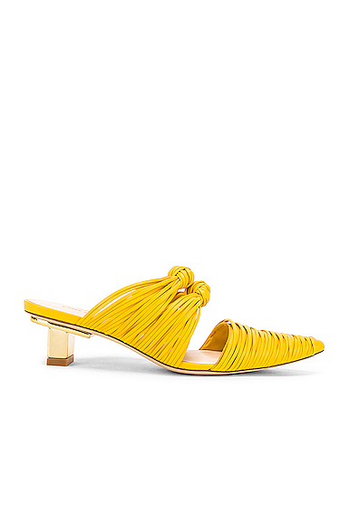 CULT GAIA | Cult Gaia Knot Mule In Yellow. - Size 37 (Also In 36.5,37.5,38,38.5,39,39.5) | Goxip