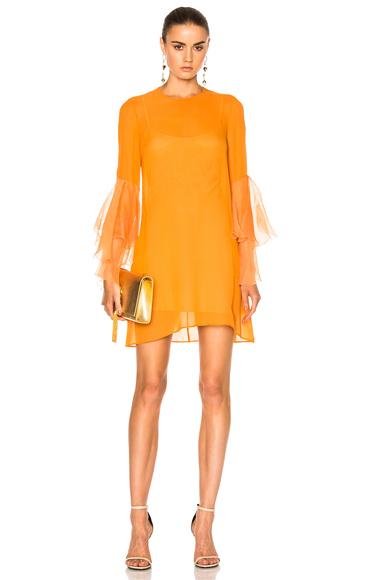 GALVAN Andalusian Sun Dress in Orange