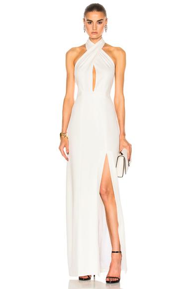 GALVAN Flyover Dress in White