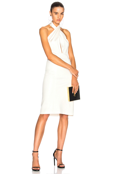 GALVAN for FWRD Mini Flyover Dress in White