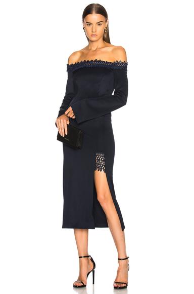 GALVAN Aguafina Dress in Blue