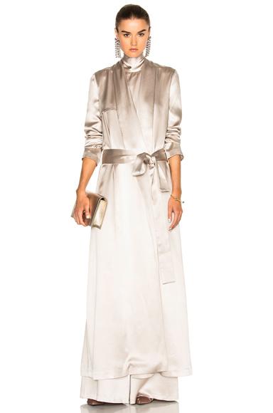 Photo of GALVAN Belted Coat in Metallics online womens jacket sales