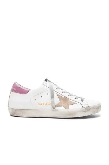 Golden Goose Leather Superstar Sneakers in White