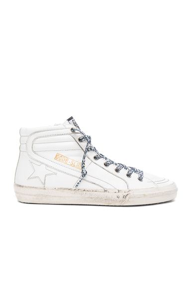 Golden Goose Leather Slide Sneakers in White