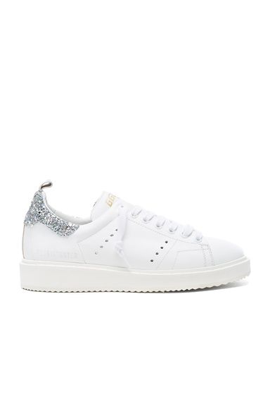 Golden Goose Leather Starter Sneakers in White