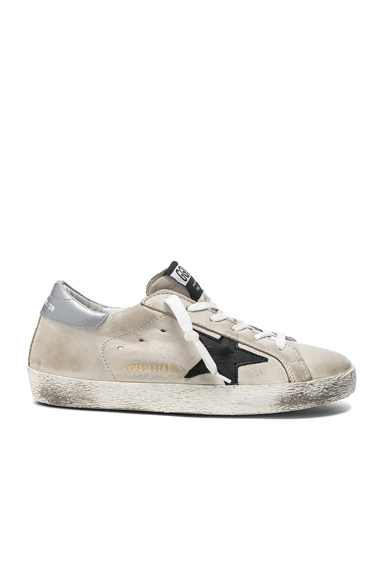 Golden Goose Leather Superstar Low Sneakers in Gray