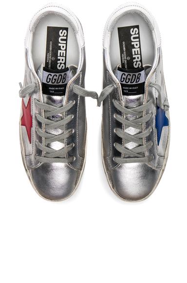 Golden Goose Leather Superstar Sneakers in Metallics