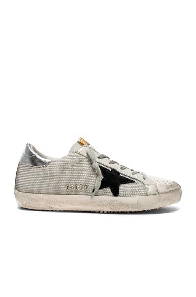 Golden Goose Superstar Sneakers in White, Metallics