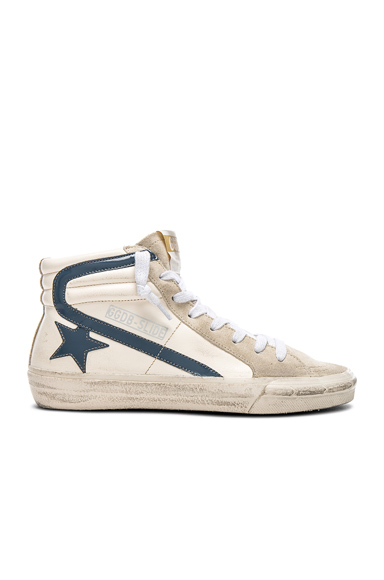 Golden Goose Leather Slide Sneakers in Neutrals