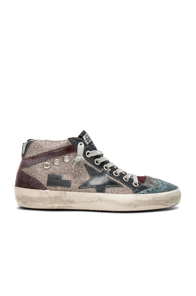 Golden Goose Glitter Mid Star Sneakers in Metallics, Purple
