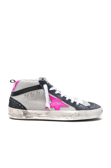 Golden Goose Knit Mid Star Sneakers in White