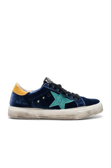 Golden Goose Velvet May Sneakers in Blue