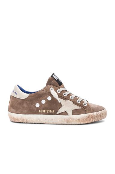 Golden Goose Suede Superstar Sneakers in Brown