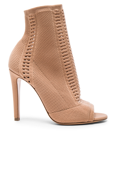 Gianvito Rossi Knit Vires Booties in Neutrals