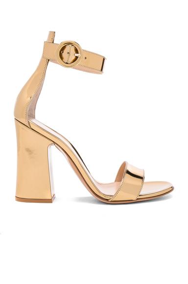 Gianvito Rossi Patent Leather Versilia Sandals in Metallics