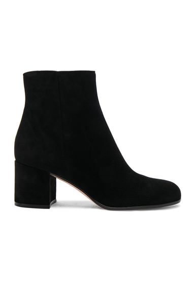 Gianvito Rossi Suede Margaux Booties in Black
