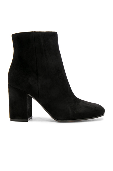 Gianvito Rossi Suede Rolling Booties in Black