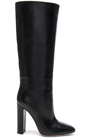 Gianvito Rossi Leather Laura Knee High Boots in Black