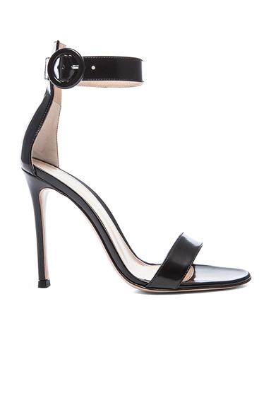 Gianvito Rossi Patent Portofino Heels in Black