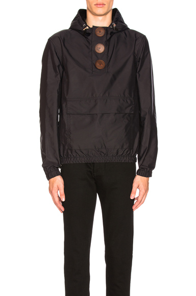 Givenchy Button Up Windbreaker in Black. - size 46 (also in 48,52)