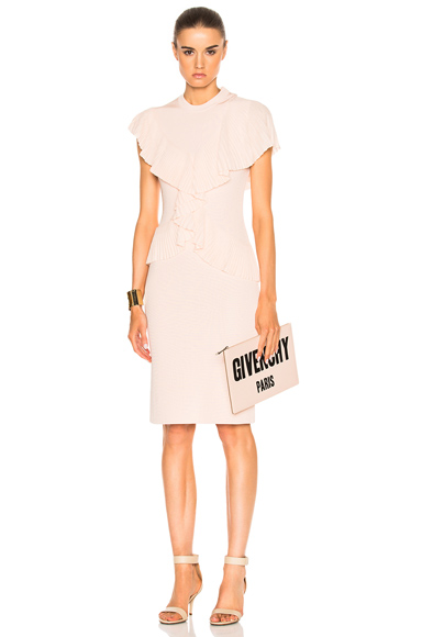 Givenchy Pleated Dress in Neutrals, Pink