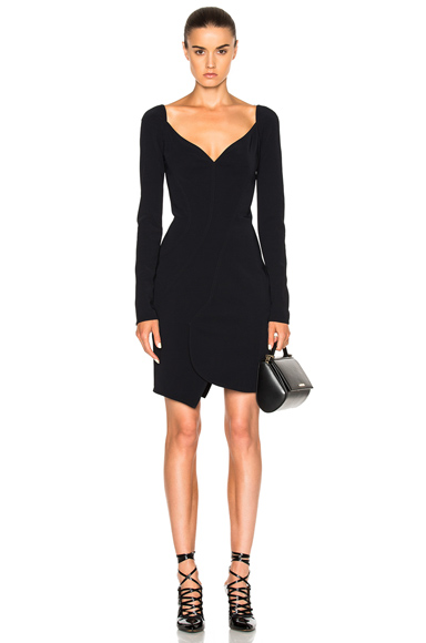 Givenchy Long Sleeve Mini Dress in Black