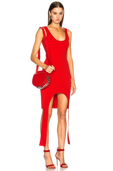 Givenchy Sleeveless Mini Dress in Red