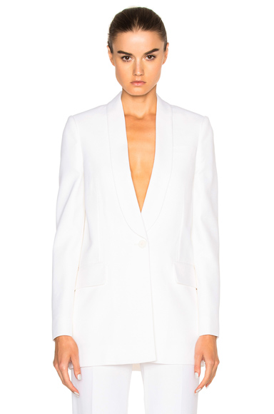 Givenchy Crepe Satin Blazer in White