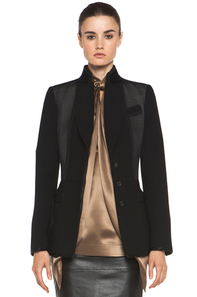 GIVENCHY | Satin Detailed Jacket in Black