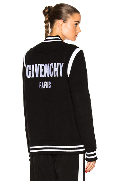 Givenchy Logo Bomber Jacket in Black