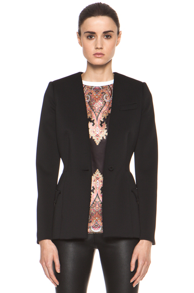 GIVENCHY | Jersey Technique Blazer in Black