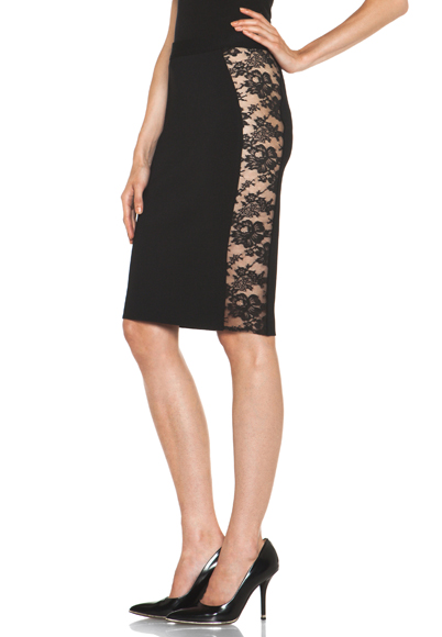GIVENCHY | Pencil Skirt with Lace in Black