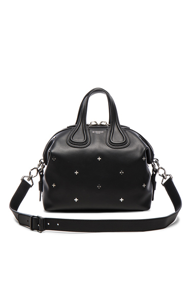 Givenchy Small Metal Cross Nightingale in Black.