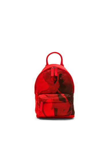 Red Bambi Print Small Backpack Bag